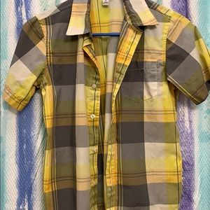Boys Plaid Old Navy shirt